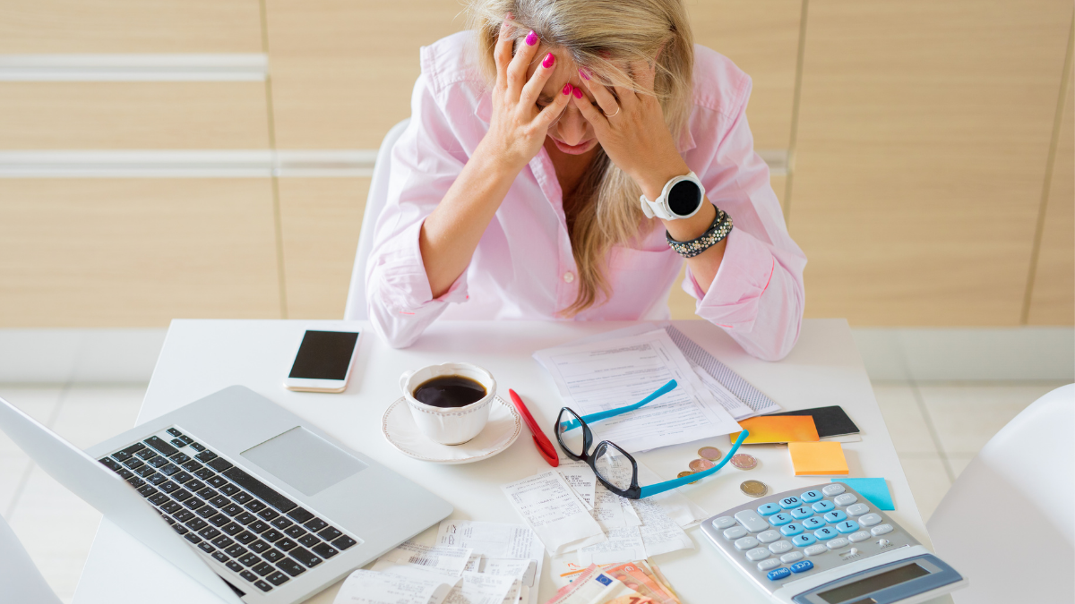 woman stressed about money mistakes